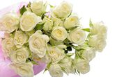 Beautiful bouquet of roses on a white background — Stock Photo