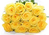 Beautiful bouquet of yellow rose flowers — Stock Photo