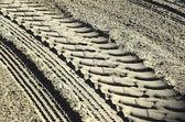 Voetafdrukken in het zand — Stockfoto