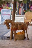 Straw donkey. — Stock Photo