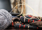 Knitting, knitting, handmade — Stock Photo