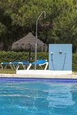 Koppla av vid poolen. — Stockfoto