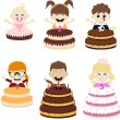 Birthday Party Kids — Stock Vector