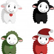Happy Sheep Mascots — Stock Vector
