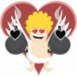 Crazy Cupid — Stock Vector