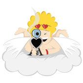 Mr. crazy amor zielt! hände hoch! — Stockvektor