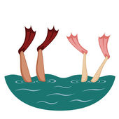 Nadadeiras acima! — Vetorial Stock