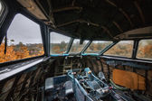 Abandoned Aircraft Cockpit — Stock Photo