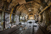 The cargo compartment of the aircraft — Foto de Stock