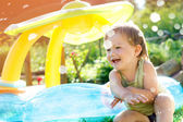 Little boy is playing and laughing — Foto Stock
