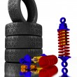 3d Shock Absorber. — Stock Photo