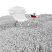 Chaise moderne 3d. — Photo