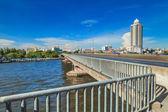 Na mostě. — Stock fotografie