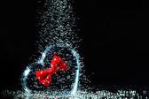 Heart underwater. — Stock Photo