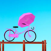 3d bicycle. — Stock Photo