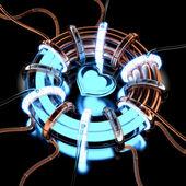 3d charts power heart. — Stock Photo
