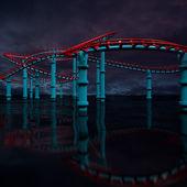 3d amusement park. — Stock Photo