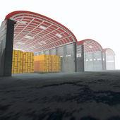 3d warehouse. — Stock Photo