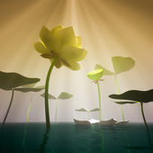 Lotus in fog. — Stock Photo