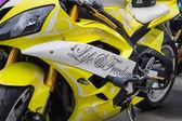 аэрография на спортивном мотоцикле — Стоковое фото