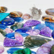 Beautiful gemstones background — Stock Photo