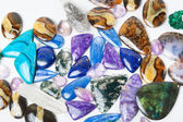 Beautiful gemstones background — Stock Photo