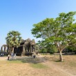 Stock Photo: Ancient buddhist khmer temple in forest, Cambodia