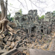Ancient ruins at the Angkor Wat, Cambodia — Stock Photo