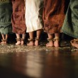 A women are performing in Khmer dance - close up the foot — Stock Photo
