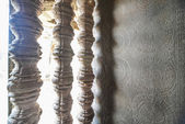 Okno v chrámu angkor — Stock fotografie