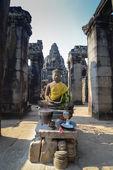 Budda koning van angkor wat in cambodja — Stockfoto