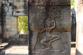 Aspara art angkor wat temple ruins camboida — Stock Photo