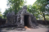 Angkor Thom Gate of largest city in angkor thom, Siem Reap, Cambodia — Stock Photo