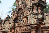Carving of mandapa at Banteay Sreiz, Cambodia — Stock Photo