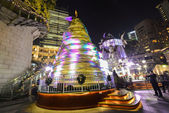 Hong Kong, China - December 31, 2013 : Colorful Christmas tree on the 1881 Heritage. The Former Marine Police Headquarters Compound, constructed in 1884, is located in Tsim Sha Tsui — Stock Photo