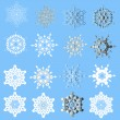 Stock Vector: Snowflakes -vector illustration