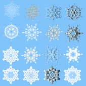 Snowflakes -vector illustration — Stock Vector