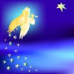 Angel welcomes the music star of the Magi-vector illustration — Vetorial Stock