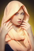 Young girl in shawl  — Foto Stock