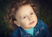 Portrait of a little curly girl — Stock Photo
