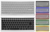 Keyboard with 84 keys — Stock Vector
