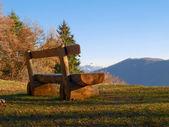 Lugano - Bré bench — 图库照片