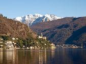 Switzerland - Lake of Lugano. view on Morcote. — Stock Photo
