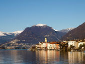 Switzerland - Lake of Lugano. view on Brusino. — Stock Photo