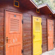 Elba Island, beach cabins — Stock Photo