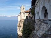 The Monastery of Santa Caterina del Sasso — Stock Photo