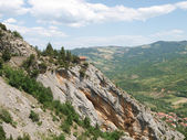 Typical mountain panorama landscape — Foto Stock
