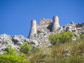 The park of Rocca Calascio, the Castle — Stock Photo