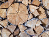 Wood cut and placed — Stock Photo