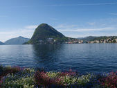 View of the Gulf of Lugano — Stockfoto